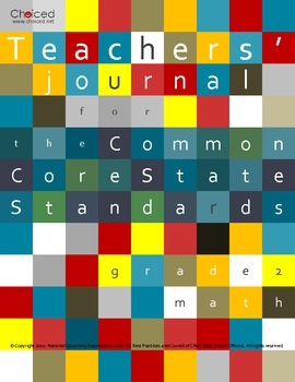 Teachers' Journal for the Common Core State Standards for Math - Grade 2