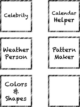 Teacher's Land - Classroom Job Labels