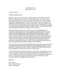 Teachers Letter of Recommendation for student entering college