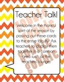 Teachers' Lounge Fun : I am Thankful For...