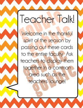 Teachers' Lounge Fun : I am Thankful For...