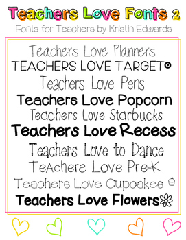 #TeachersLoveFonts 2