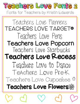 Teachers Love Fonts 2 - Fonts for Teachers