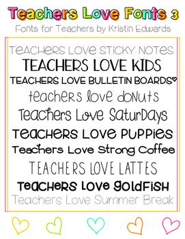 #TeachersLoveFonts 3