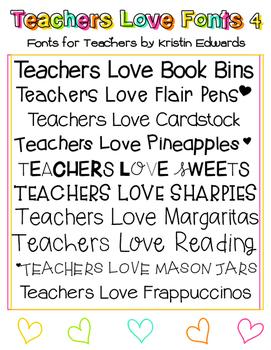 #TeachersLoveFonts 4