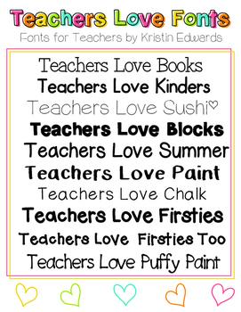 Teachers Love Fonts 1 - Fonts for Teachers