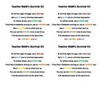 Teachers M&M's Survival Kit
