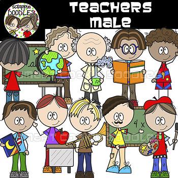 Teachers - Male {School Teacher Clip Art}