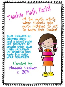 Teachers Math Facts- A Fun Way For Students to Learn About