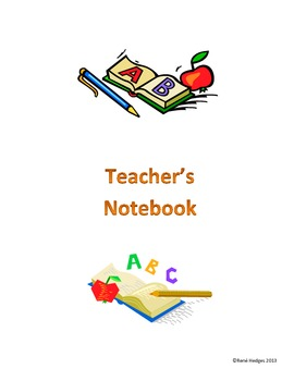 Teacher's Notebook-ABC Theme