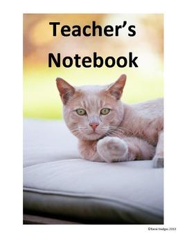 Teacher's Notebook- Cat Theme