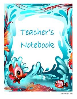 Teacher's Notebook-Cute Ocean Theme