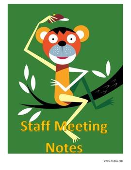 Teacher's Notebook-Monkey Theme
