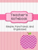 Teacher's Notebook (Pink and Black)