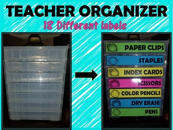 Teachers Organizer Labels