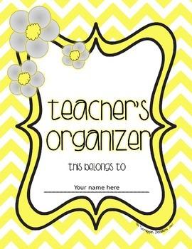 Teacher's Organizer Cover Page {Editable} FREE