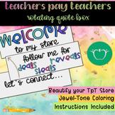Teachers Pay Teachers Rotating Quote Box - Jewel Tone Coloring