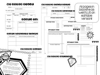 Teachers Pay Teachers SUPER Product Planner! Editable!!