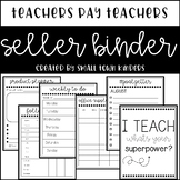 Teachers Pay Teachers Seller Binder