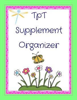 Teachers Pay Teachers Supplement Organizer