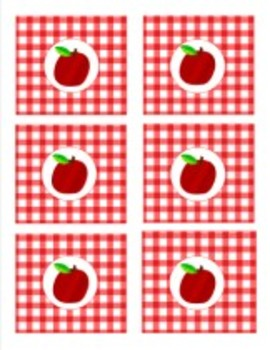 Classroom Decor Teacher's Pet Apple Gingham Tag