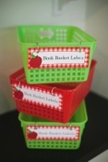 Classroom Decor Teacher's Pet Book Basket Labels