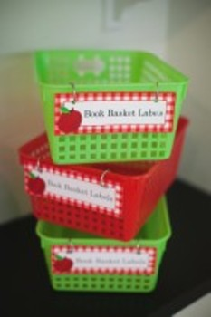 Classroom Decor Teacher's Pet Book Basket Labels