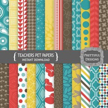 Teachers Pet Digital Paper Pack