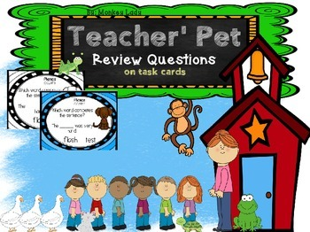 Teacher's Pet Review Task Cards for Houghton Mifflin Journeys