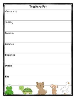 Teacher's Pet Story Map Graphic Organizer
