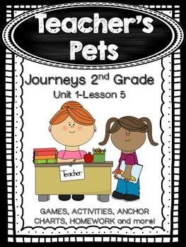 Teacher's Pets Journeys 2nd Grade (Unit 1 Lesson 5) Supplemental Activities