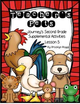 Teacher's Pets Journey's Activities - Second Grade Lesson 5