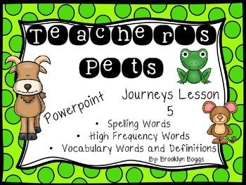 Teacher's Pets Powerpoint - Second Grade Journeys Lesson 5