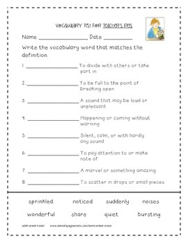 Teacher's Pets Supplemental Activities 2nd Grade Journeys Unit 1, Lesson 5