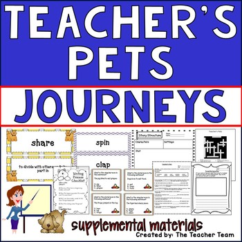 Teacher's Pets Journeys Second Grade Unit 1 Lesson 5 Activities & Printables
