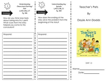 Teacher's Pets - by Dayle Ann Dodds - Journeys Common Core- Houghton Mifflin