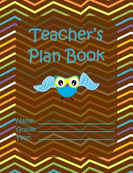 Teacher's Plan Book - Cover Pages