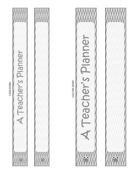 Teacher's Plan Book - Cover Pages - Black and White!