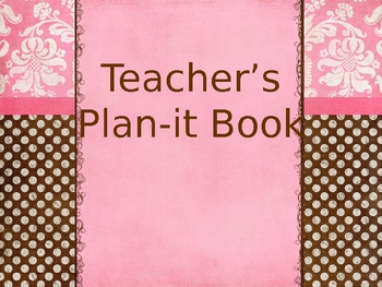 Teacher's Plan-it Book