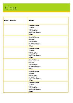 Teacher's Planner - Editable