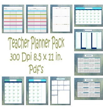 Teachers Planner Pack. These are Downloadable and Printable.