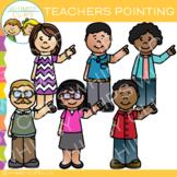 Pointing Teachers Clip Art