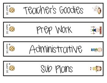 Teacher's Prep:  Organizing Binders For Teacher Resources