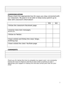Teacher's Report Card - PARENTS complete