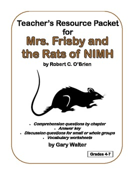Mrs. Frisby and the Rats of Nimh - quiz on ch 7-12 (p. 45-88) | Ps ...