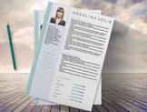 Teachers Resume Template 3 page |  MS Word | Modern Resume