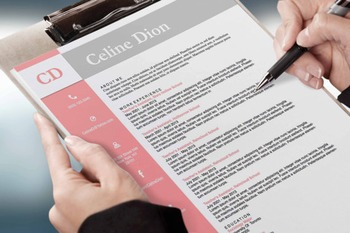 Teachers Resume Template 3 page |  MS Word | Pink | Celine Dion