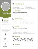 Teacher's Resume Template | Pale Green | Resume Design + C
