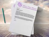 Teacher's Resume Template |Flower Resume Design + Cover Letter