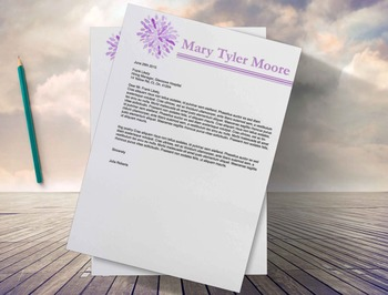 Teacher's Resume Template |Flower Resume Design + Cover Letter